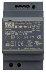 AC DC sina DIN Mean Well HDR-60-24 60W 24V 2.5A