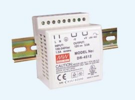 AC DC sina DIN Mean Well DR-4524 45W 24V 2A