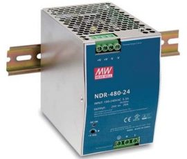 AC DC sina DIN Mean Well NDR-480-24 480W 24V 20A