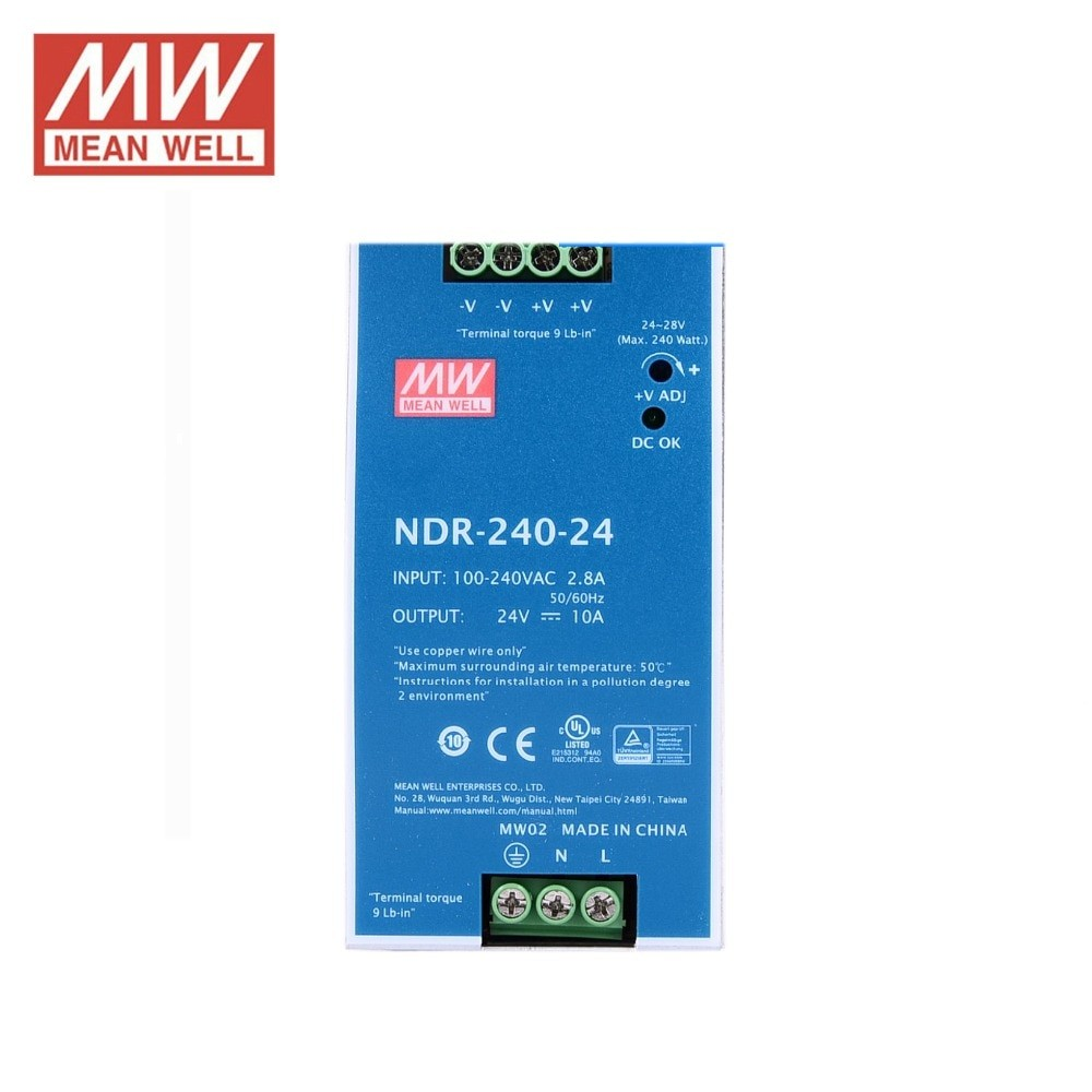 AC DC sina DIN Mean Well 240W 24V 10A